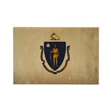 Massachusetts State Flag VINTAGE Magnets