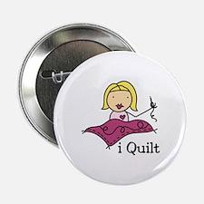 "I Quilt 2.25"" Button"