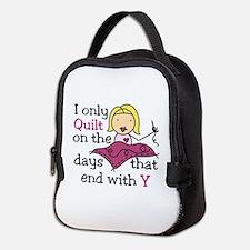 I Only Quilt Neoprene Lunch Bag