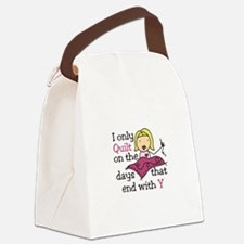 I Only Quilt Canvas Lunch Bag