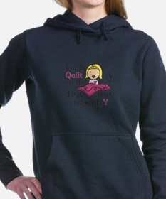 I Only Quilt Women's Hooded Sweatshirt