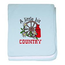 Little Bit Country baby blanket