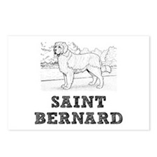 Saint Bernard Dog Postcards (Package of 8)