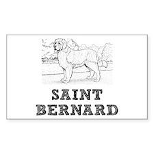 Saint Bernard Dog Decal
