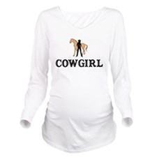 Cowgirl & Horse Long Sleeve Maternity T-Shirt