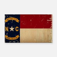 North Carolina State Flag VINTAGE Rectangle Car Ma