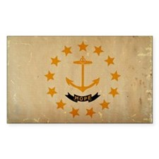 Rhode Island State Flag Decal
