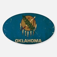 Oklahoma State Flag VINTAGE Decal