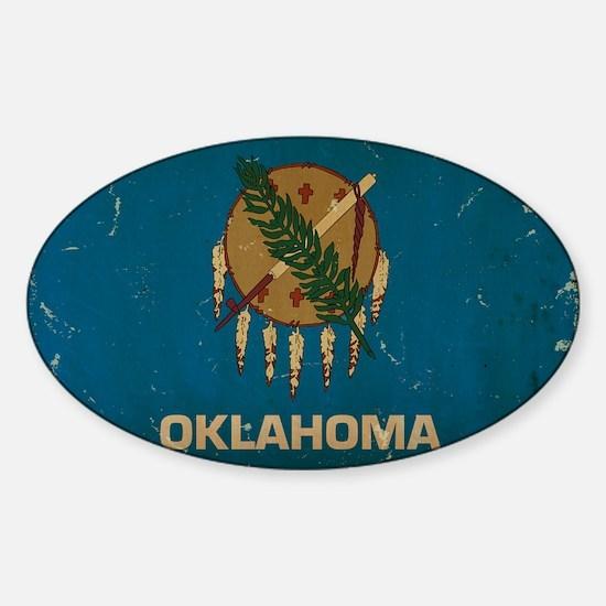 Oklahoma State Flag VINTAGE Decal