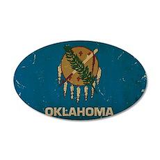Oklahoma State Flag VINTAGE Wall Decal