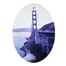 San Francisco Golden Gate Bridge Ornament (Oval)