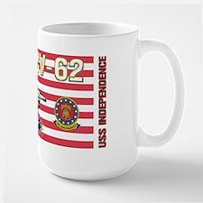CV-62 USS Independence Large Mug