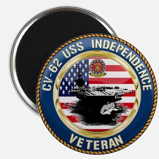 """CV-62 USS Independence 2.25"""" Magnet (10 pack)"""