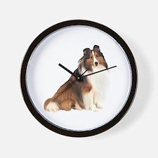 Shetland Sheepdog (sw7) Wall Clock