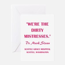 DIRTY MISTRESSES Greeting Cards