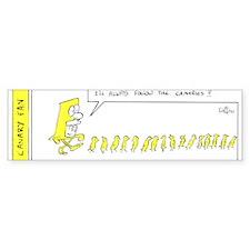 Always Follow The Canaries Bumper Bumper Sticker