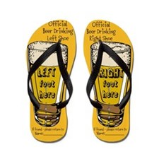 Cute Drink beer Flip Flops