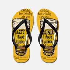 Official Beer Drinking Flip Flops