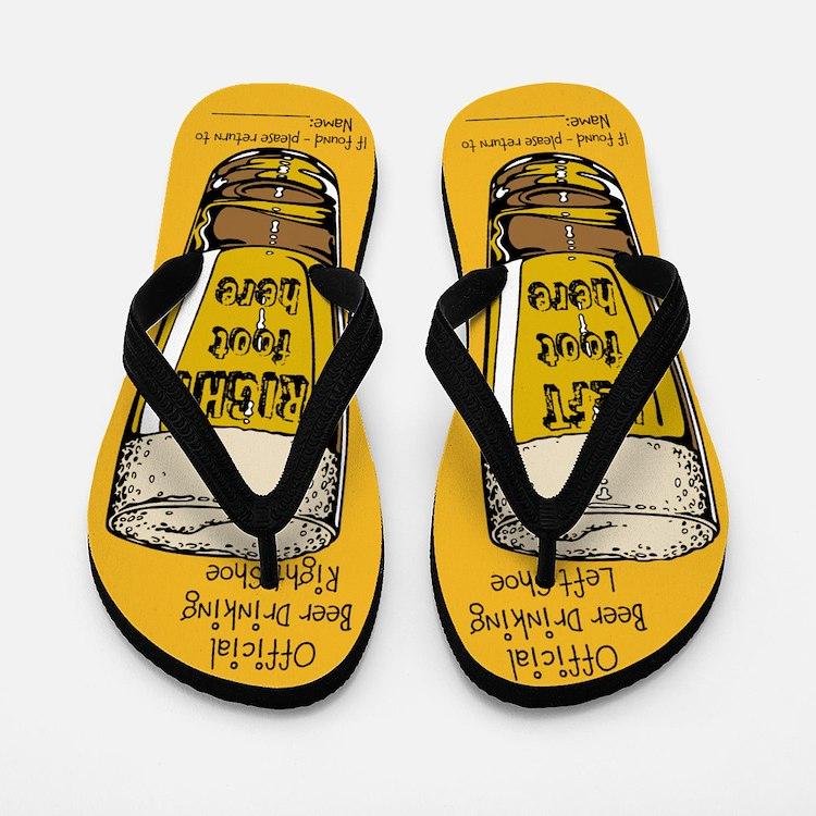Official Beer Drinking Flip Flops