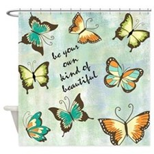 Be Your Own Beautiful Butterflies Shower Curtain