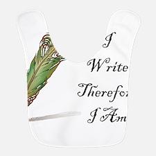 I Write Therefore I Am Bib