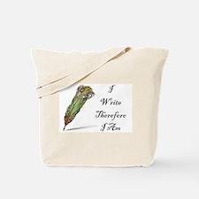 I Write Therefore I Am Tote Bag