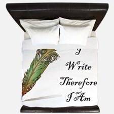 I Write Therefore I Am King Duvet
