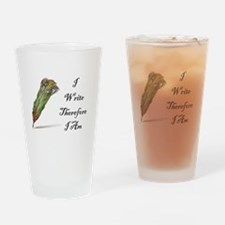 I Write Therefore I Am Drinking Glass