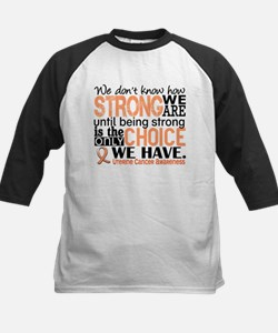 Uterine Cancer How Strong We Kids Baseball Jersey