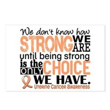 Uterine Cancer How Strong Postcards (Package of 8)
