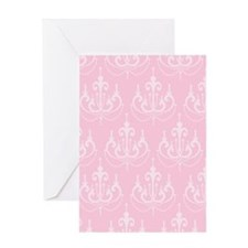 Pink Chandeliers Greeting Cards