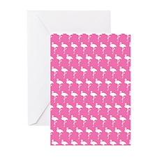 Preppy Pink Flamingos Greeting Cards