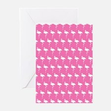 Preppy Pink Flamingos Greeting Cards