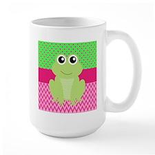Frog on Pink and Green Mugs