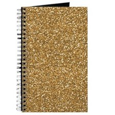 Gold Faux Glitter Journal