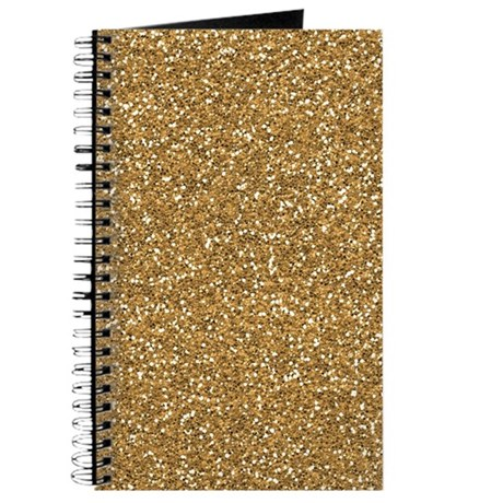 Gold faux glitter journal by zenchic - Faux journal personnalise ...