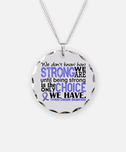 Thyroid Disease How Strong W Necklace Circle Charm