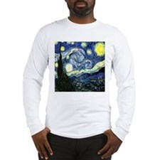 starrynight square light png Long Sleeve T-Shirt