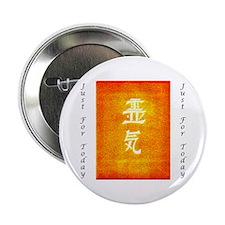 """Reiki Orange Glo 2.25"""" Button"""