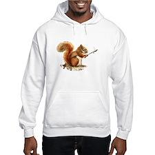 Fun Red Squirrel Roasting Marshmallows Hoodie Swea