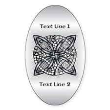 Silver Customized Celtic Knot Decal