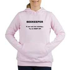 Keep up! Black text Women's Hooded Sweatshirt