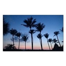 Blue Sunset with Palms Decal