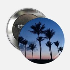 """Blue Sunset with Palms 2.25"""" Button"""