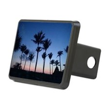 Blue Sunset with Palms Hitch Cover