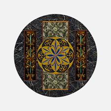 "Harvest Moons Pompeii Murals 3.5"" Button"