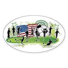 Usa Women Soccer Sticker (oval)