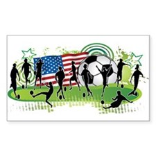 Usa Women Soccer Sticker (rectangle)