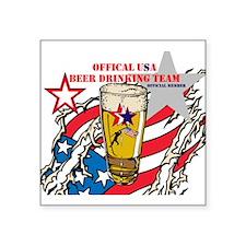 US Beer Drinking Team Sticker