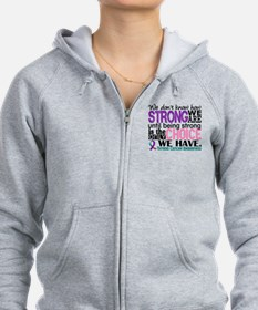 Thyroid Cancer How Strong We Ar Zip Hoodie